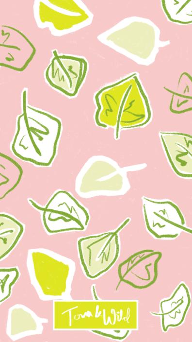 Leaf Pattern on Pink